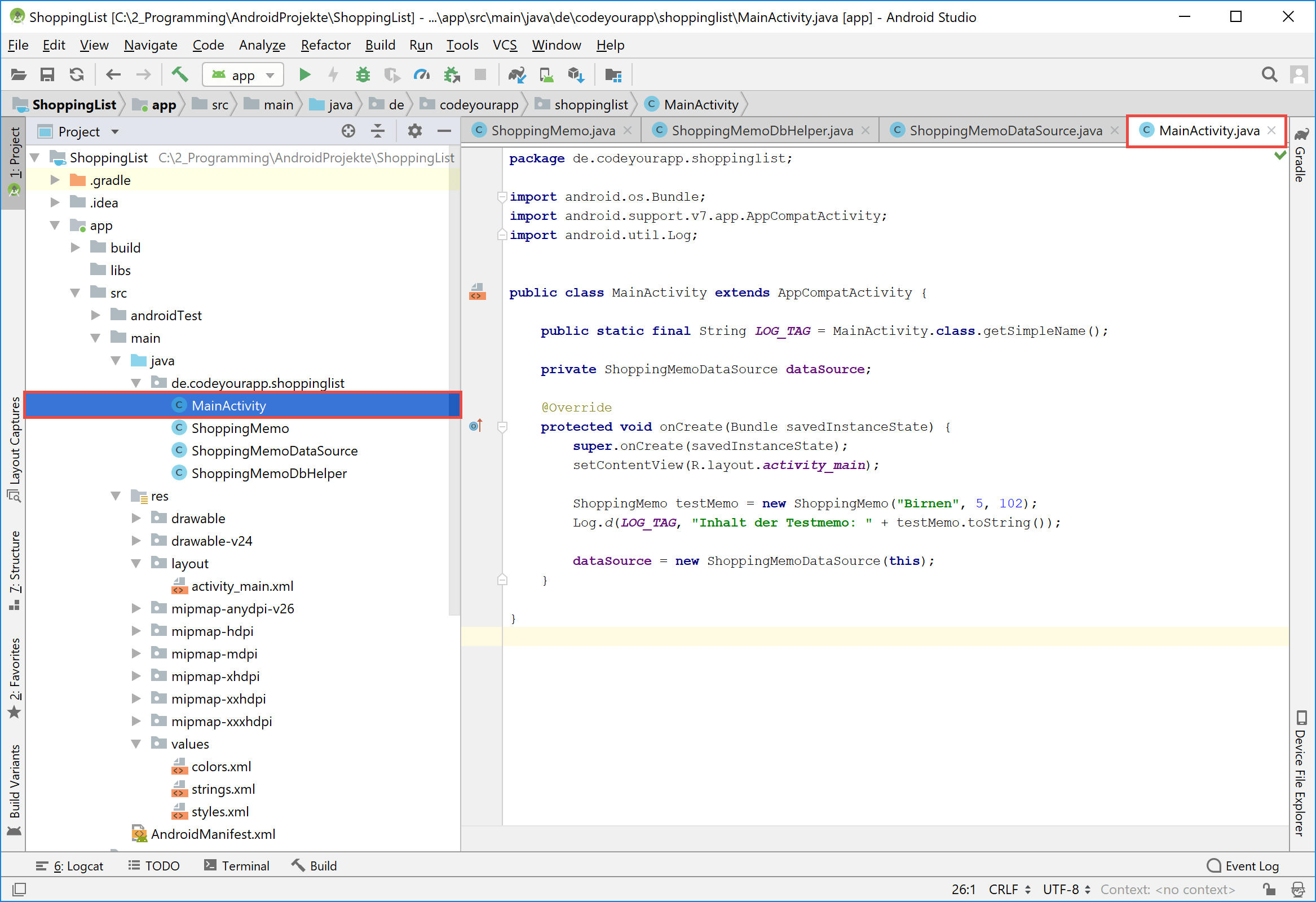 android_sqlite_activity_testcode